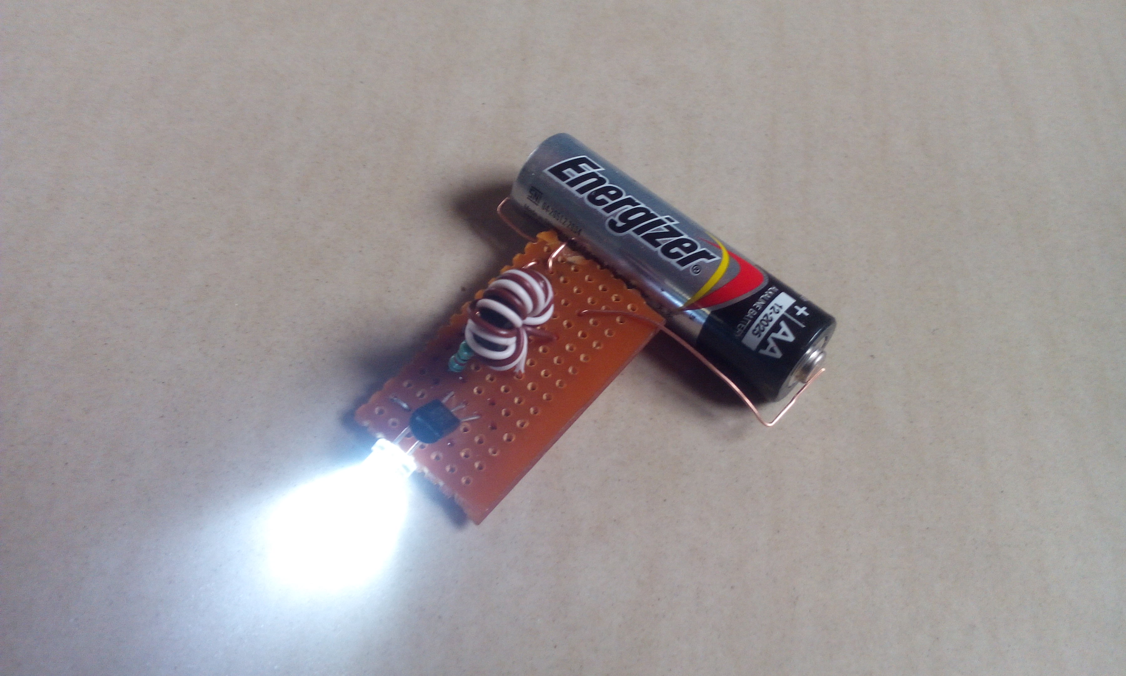 Led With a Single AA Battery Aka Joule Thief