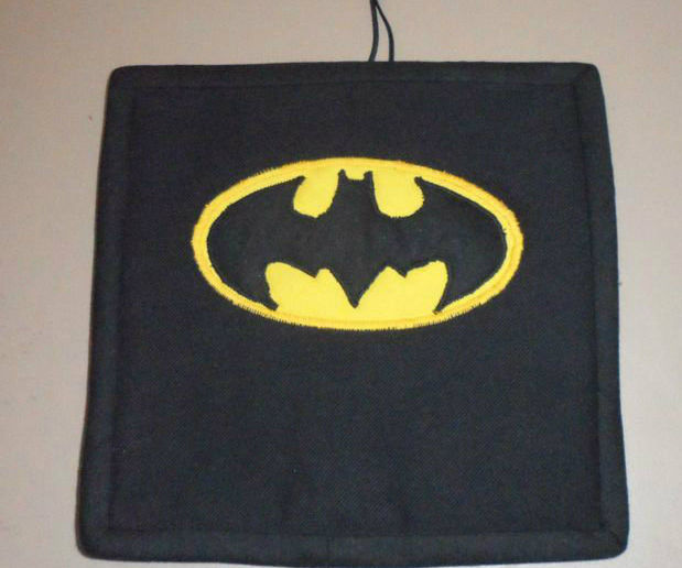 Batman Potholder Made with Recycled Items