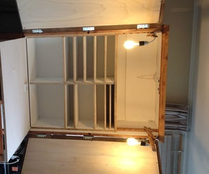 Cupboard With Folding Table and Lights