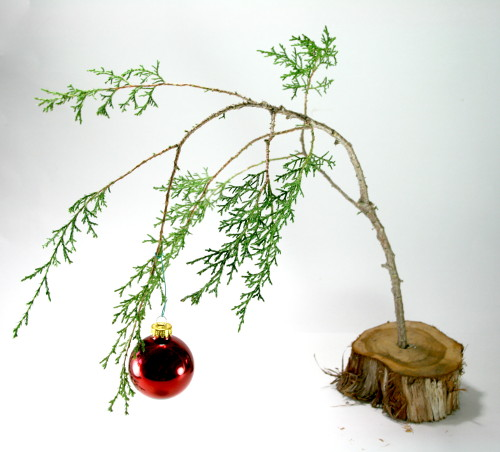 Make a Charlie Brown Christmas Tree