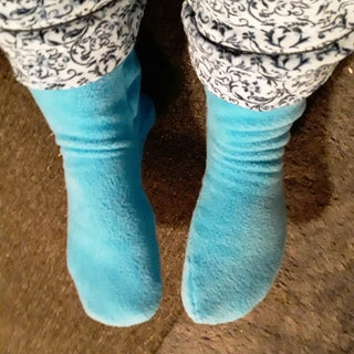 Cozy Socks From Polarfleece Blanket