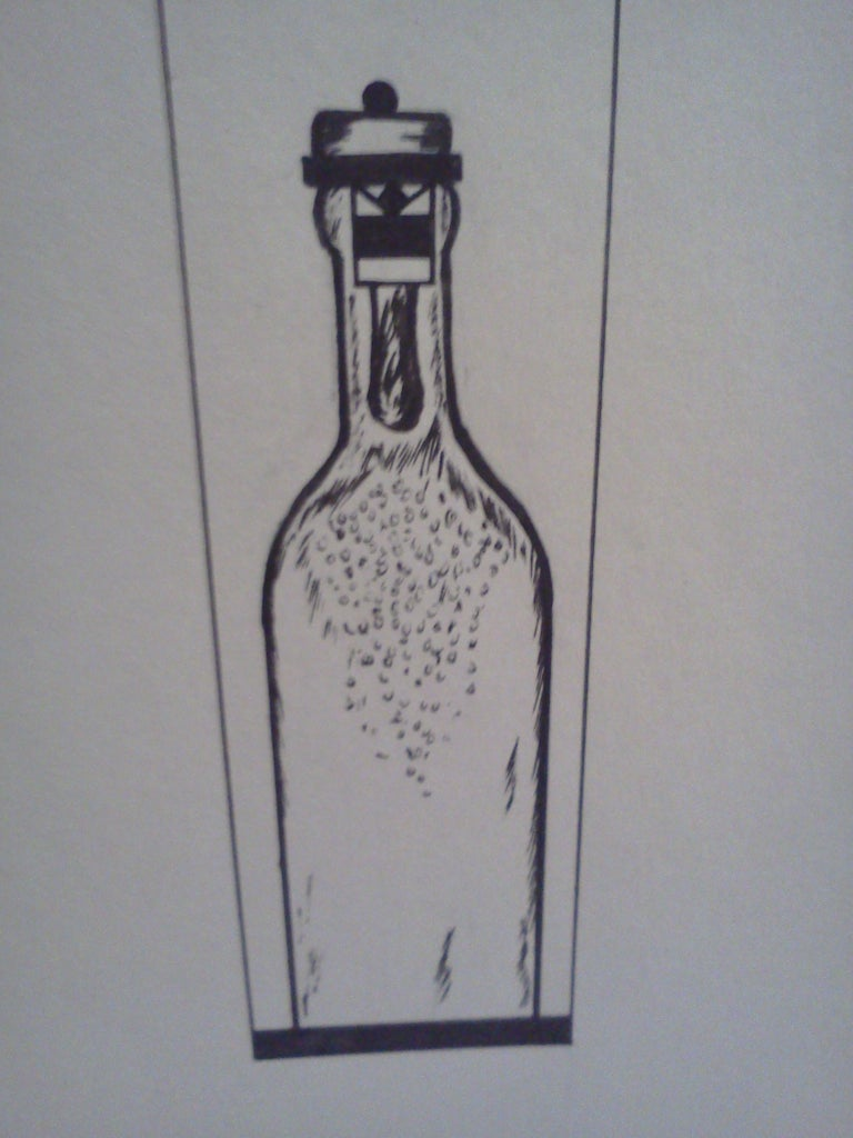 Drawing the Front of the Vio Wine Packaging: Detail Two