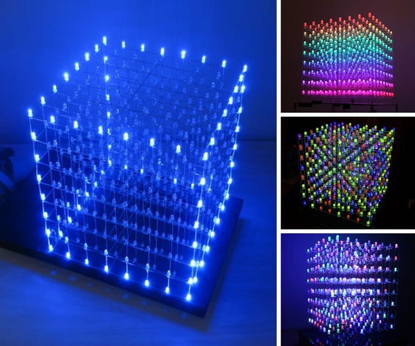 A Collection of WAAAY Too Many 8X8X8 RGB LED Cubes!