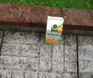 Juice Carton Wasp Trap!