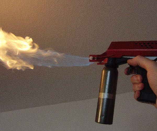 Cool Flamethrower Gun, HV Spark Triggered