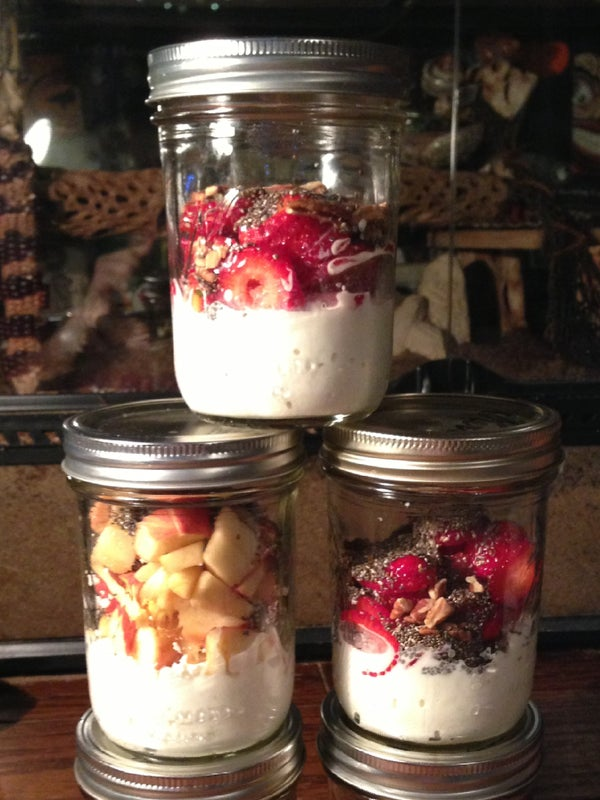 Home-made Cottage Cheese & Fruit Breakfast