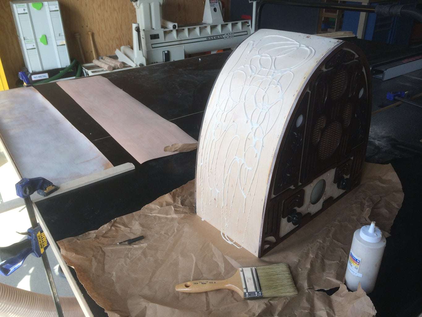 Finishing the Sides With Veneer