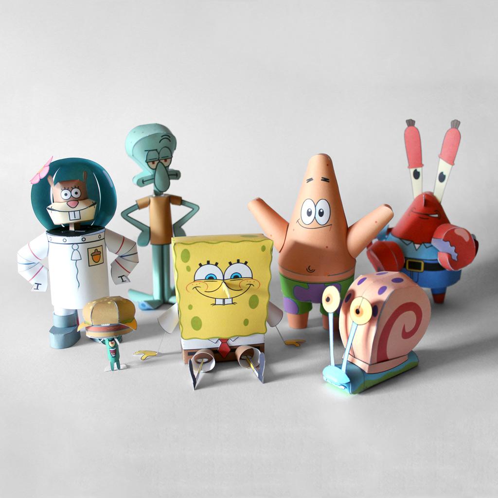 Spongebob & Friends Papercraft – The Whole Collection