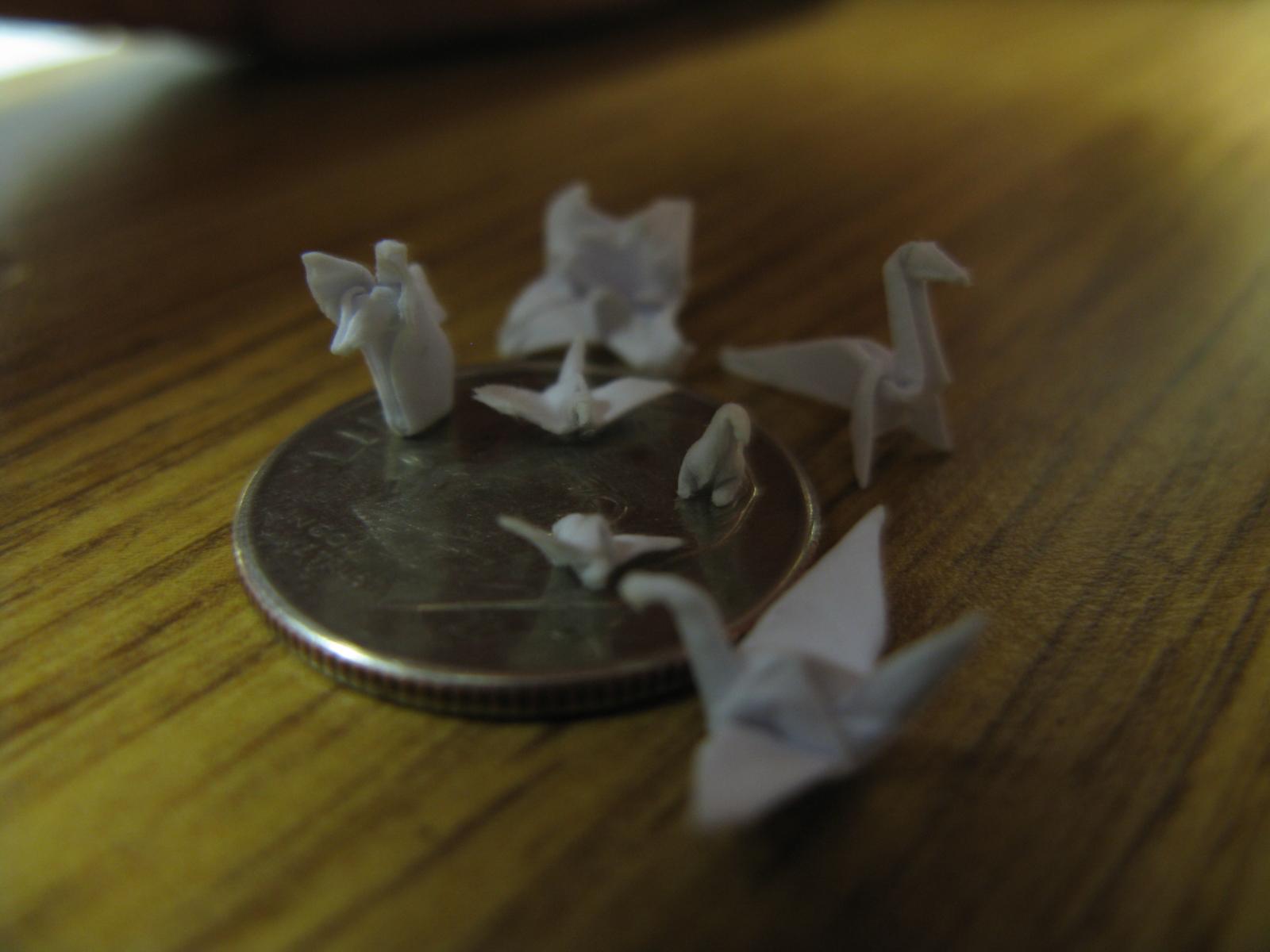 Making Very Tiny Origami