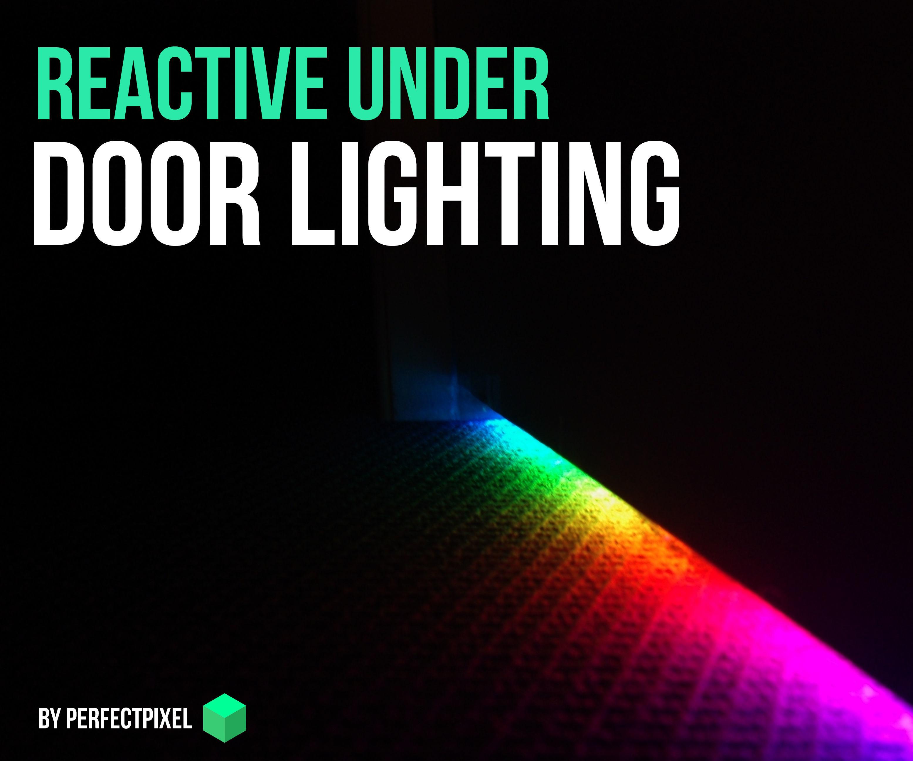 Reactive Neopixel Door Lighting