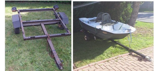 Jon Boat Trailer From a Harbor Freight 40 X 48 Trailer