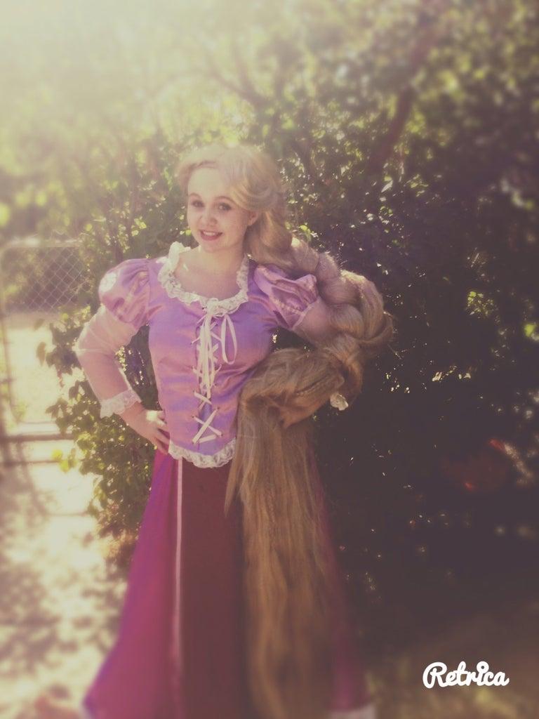 Rapunzel Parks Wig Tutorial(Super Easy,super Cheep)!