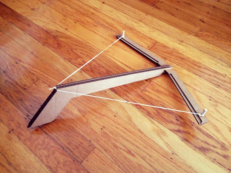 Laser Cut Cardboard Crossbow