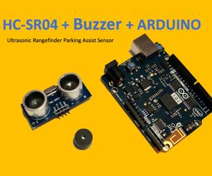 HC-SR04 + Buzzer + Arduino: Parking Assist Sensor