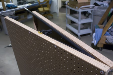 Clamp and Screw the Peg Boards to the Frame
