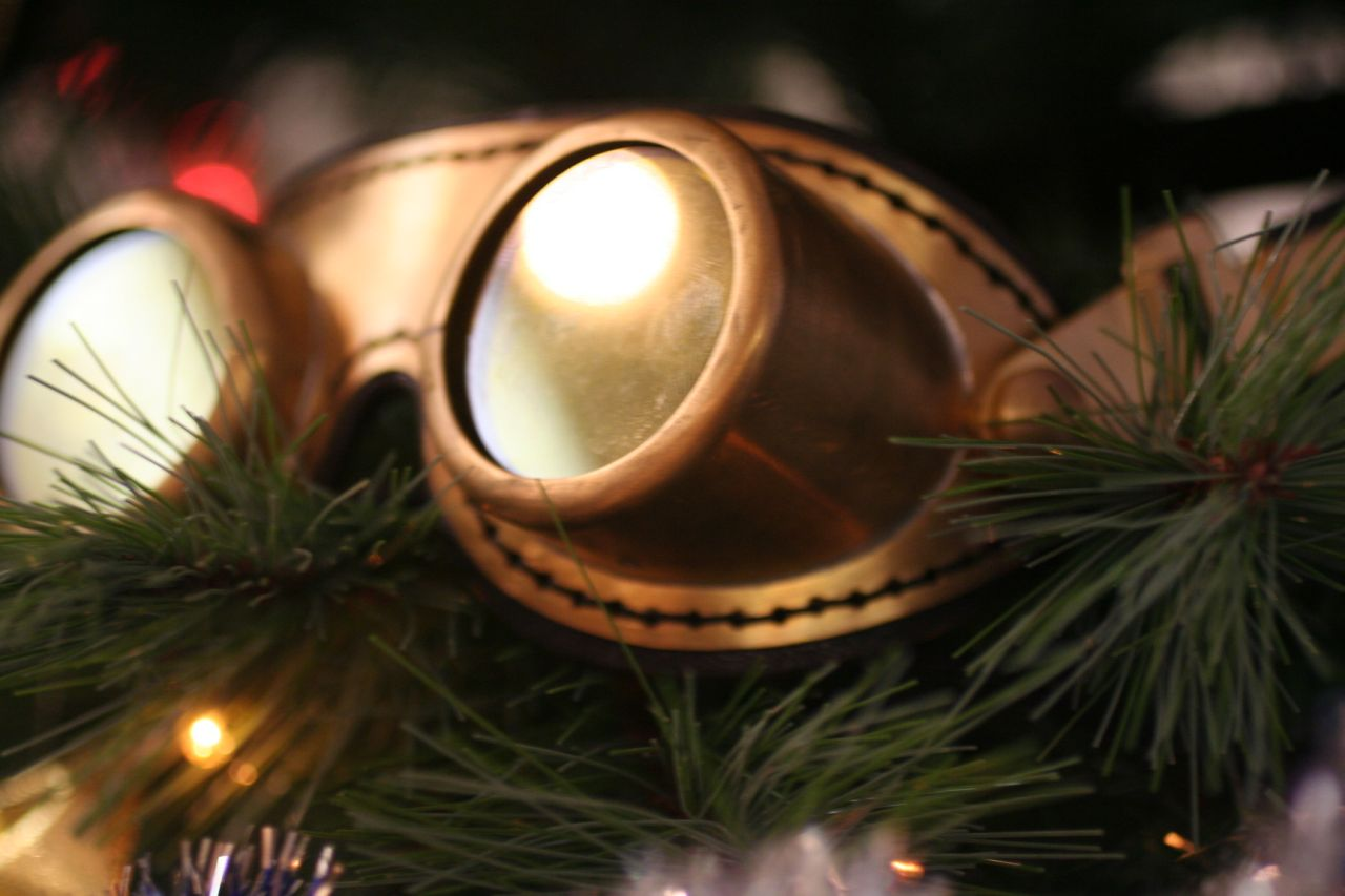 Real brass goggles