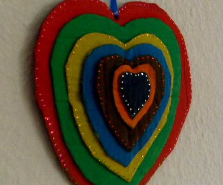 Stacked Heart Wall Hanging