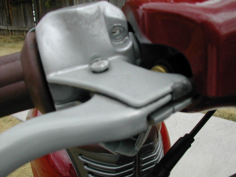 Replace the Brake Lever/mirror Mount on a 1998 Italjeft Veloifero