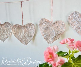 Turn a Roll of Tinfoil Into the Prettiest Heart Garland