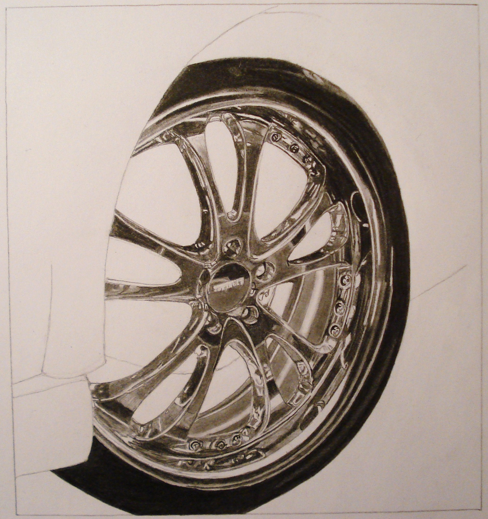 Chrome Rim Drawing Tutorial