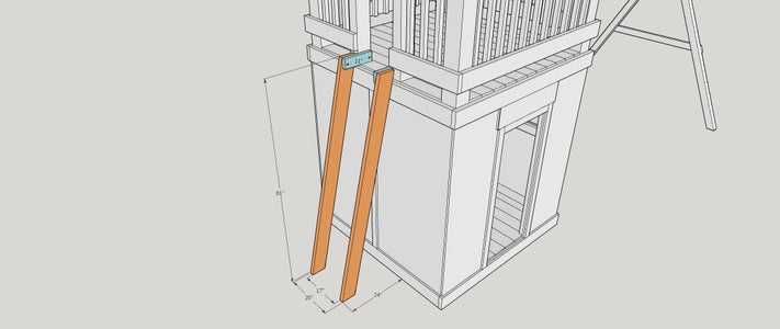 Step 17:  Ladder  Supports