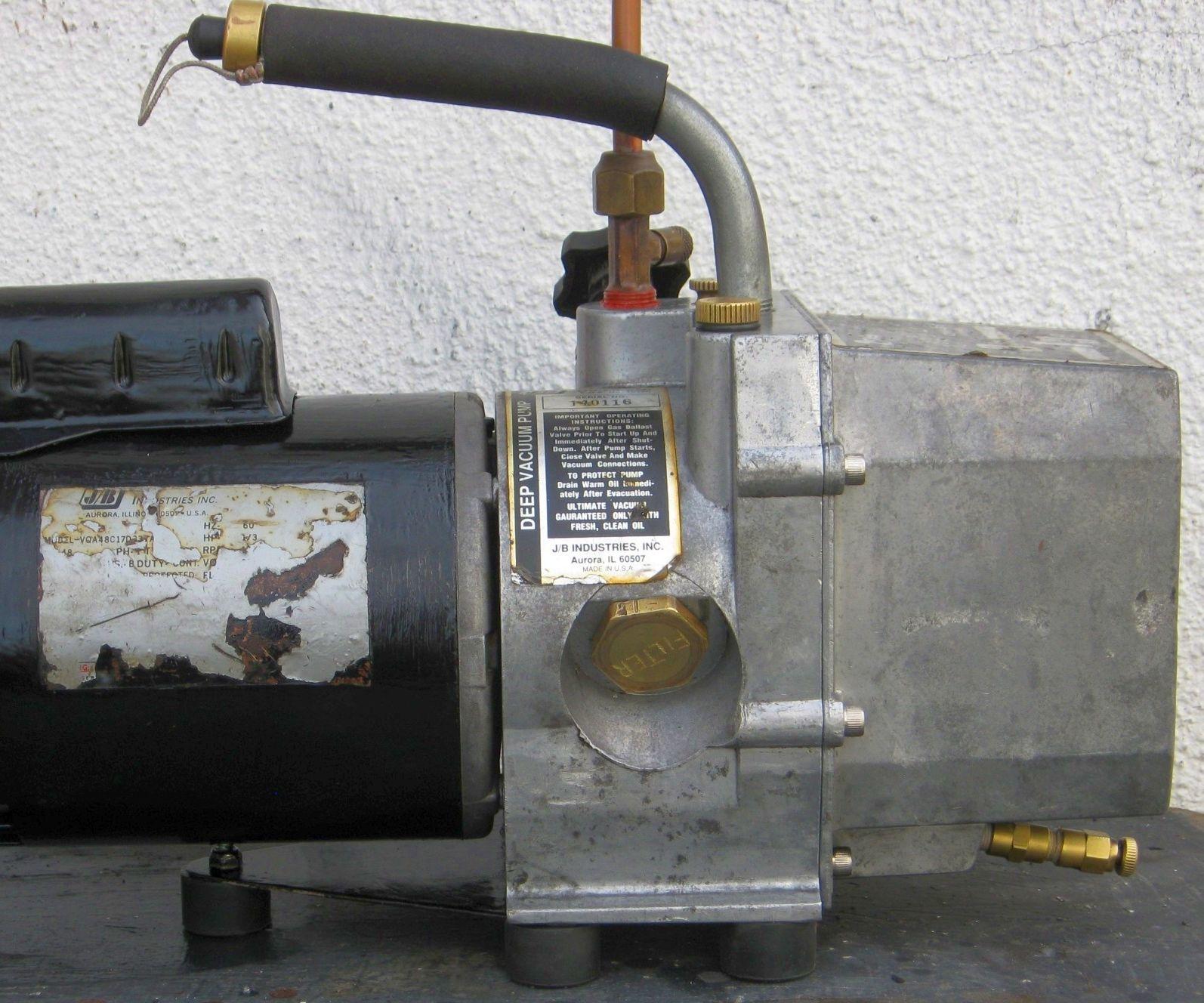Repair and Rebuild a Deep Vacuum Pump, the JB Industries DV85.