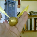 Cold porcelain Golden Snitch (step by step)
