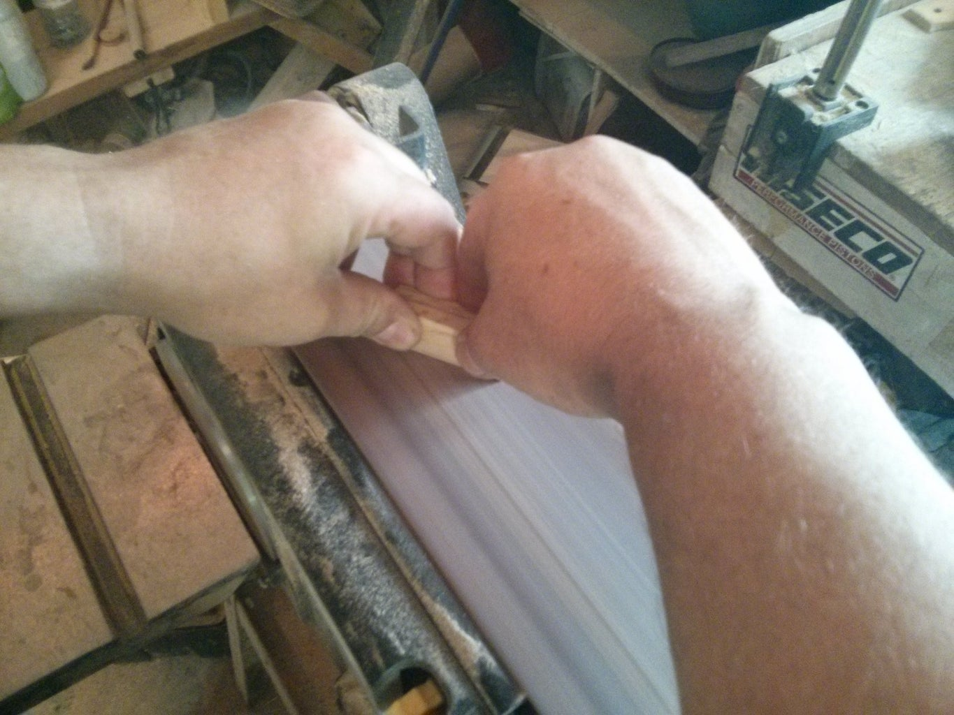 Cutting the Leg Pieces