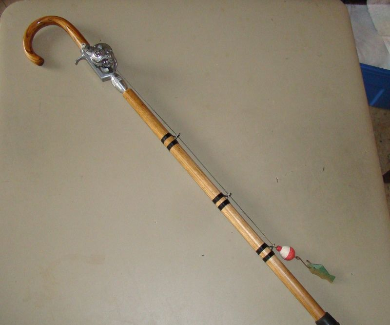 Fisherman's walking cane (Or, retirement gift)