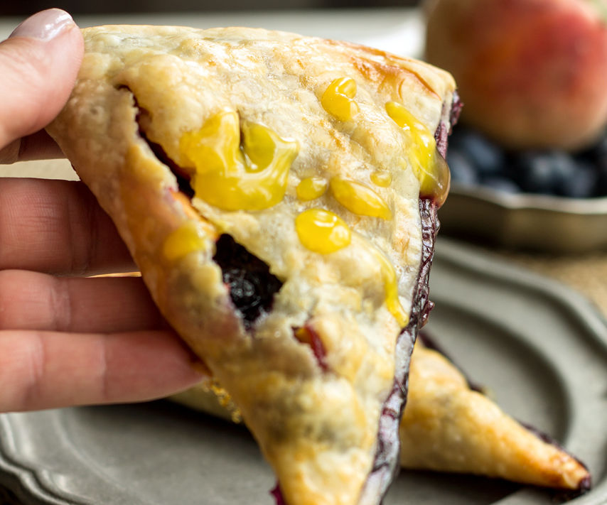Easy Peach and Blueberry Hand Pies