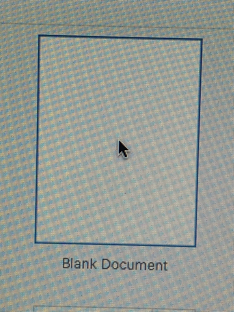 OPEN a NEW DOCUMENT