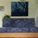 Easy DIY Couch Cushion Covers - Tie Dyed