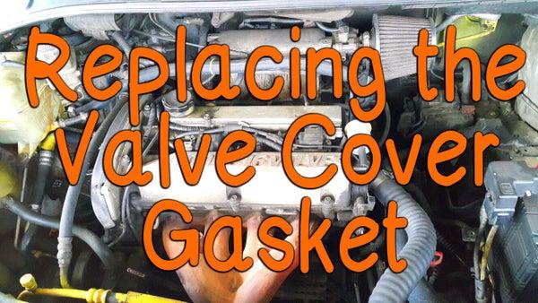 Replacing the Valve Cover Gasket for Hyundai Trajet 2000.