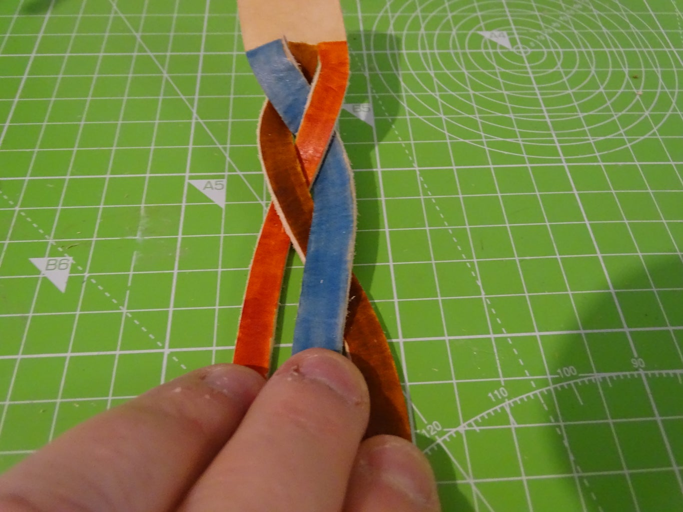 Braid Step 6: Right to the Middle