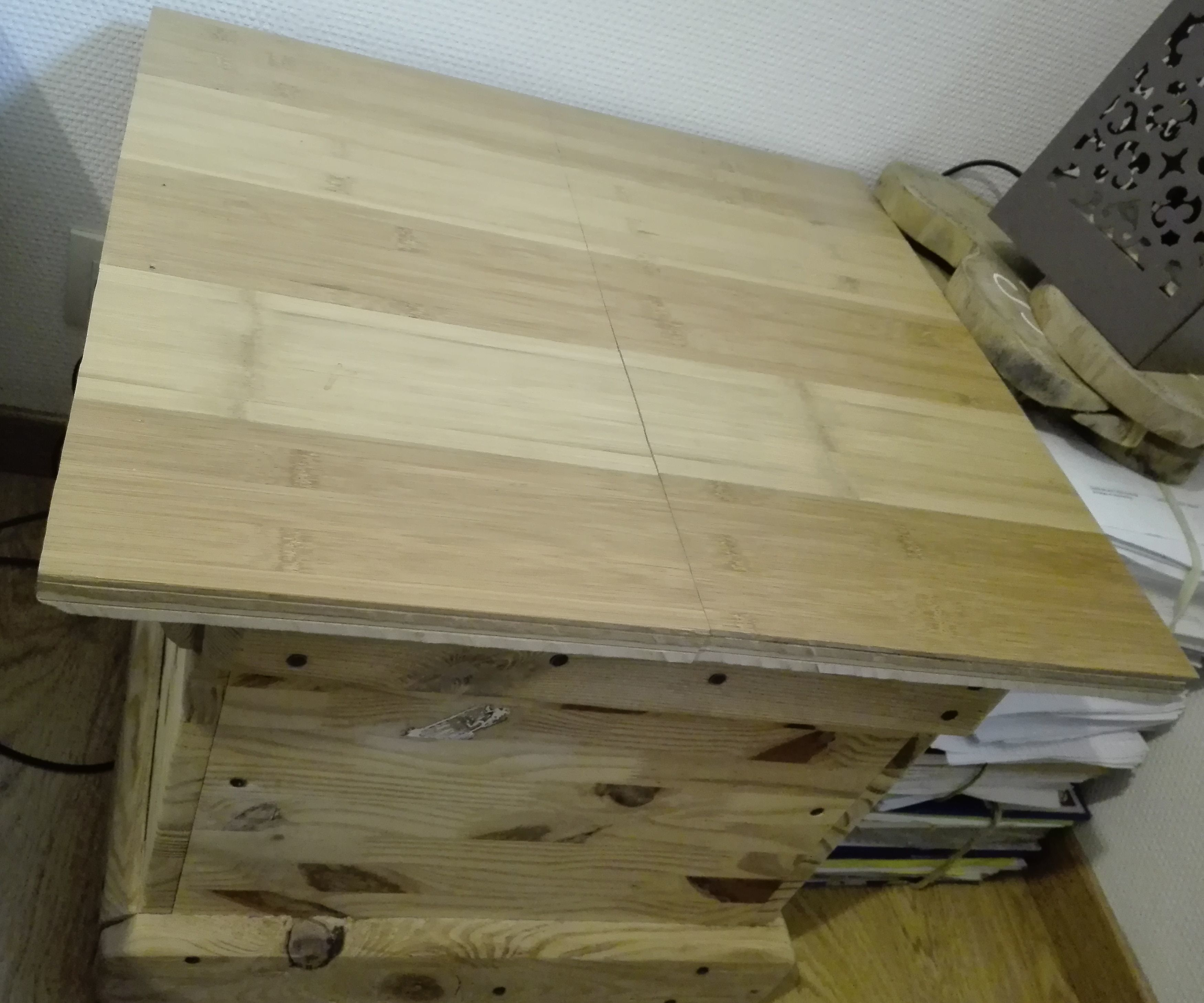 Bamboo and Pallet Bedside Table