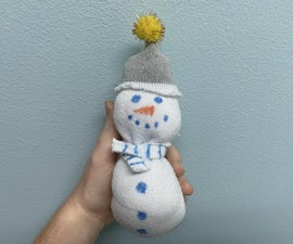 Snowman Plushie Out of a Sock