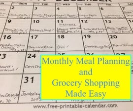 Monthly Meal Planning and Grocery Shopping Made Easy