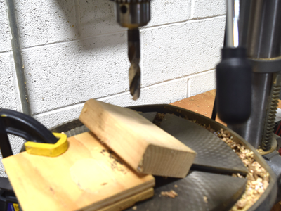 Angle Drill the Handle Hole