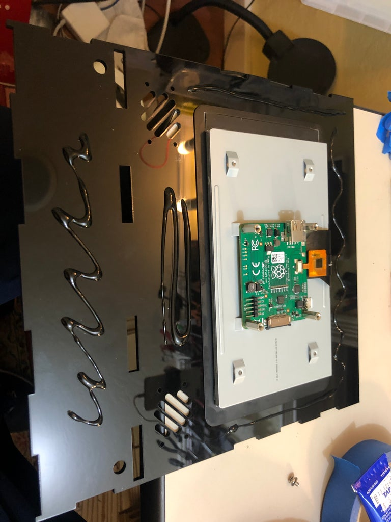 Front Display With Monitor and Raspberry Pi