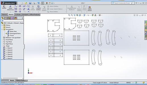 2D Design for Laser Cutting