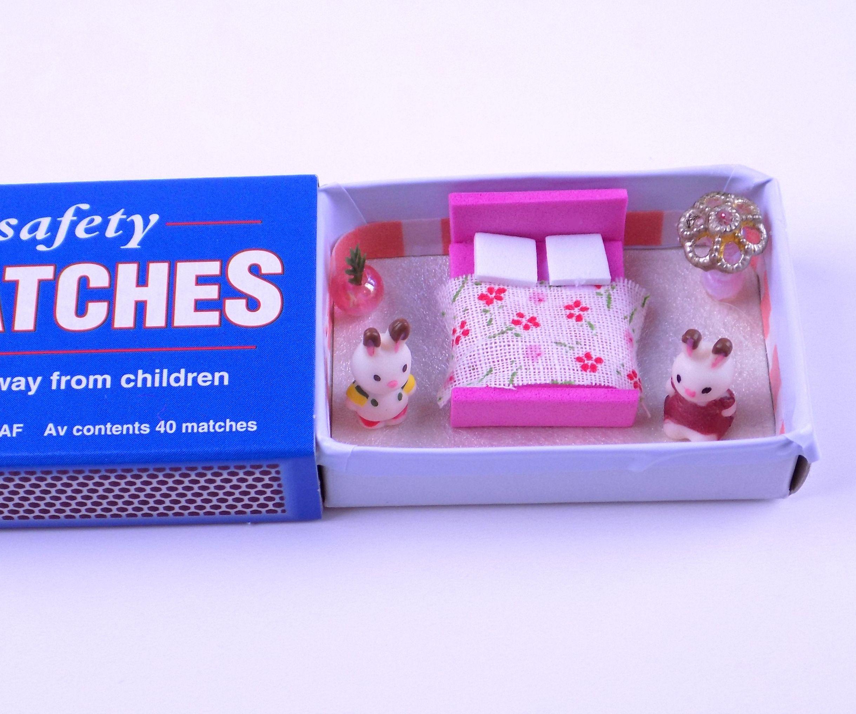Diy Miniature Matchbox Dollhouse Bedroom