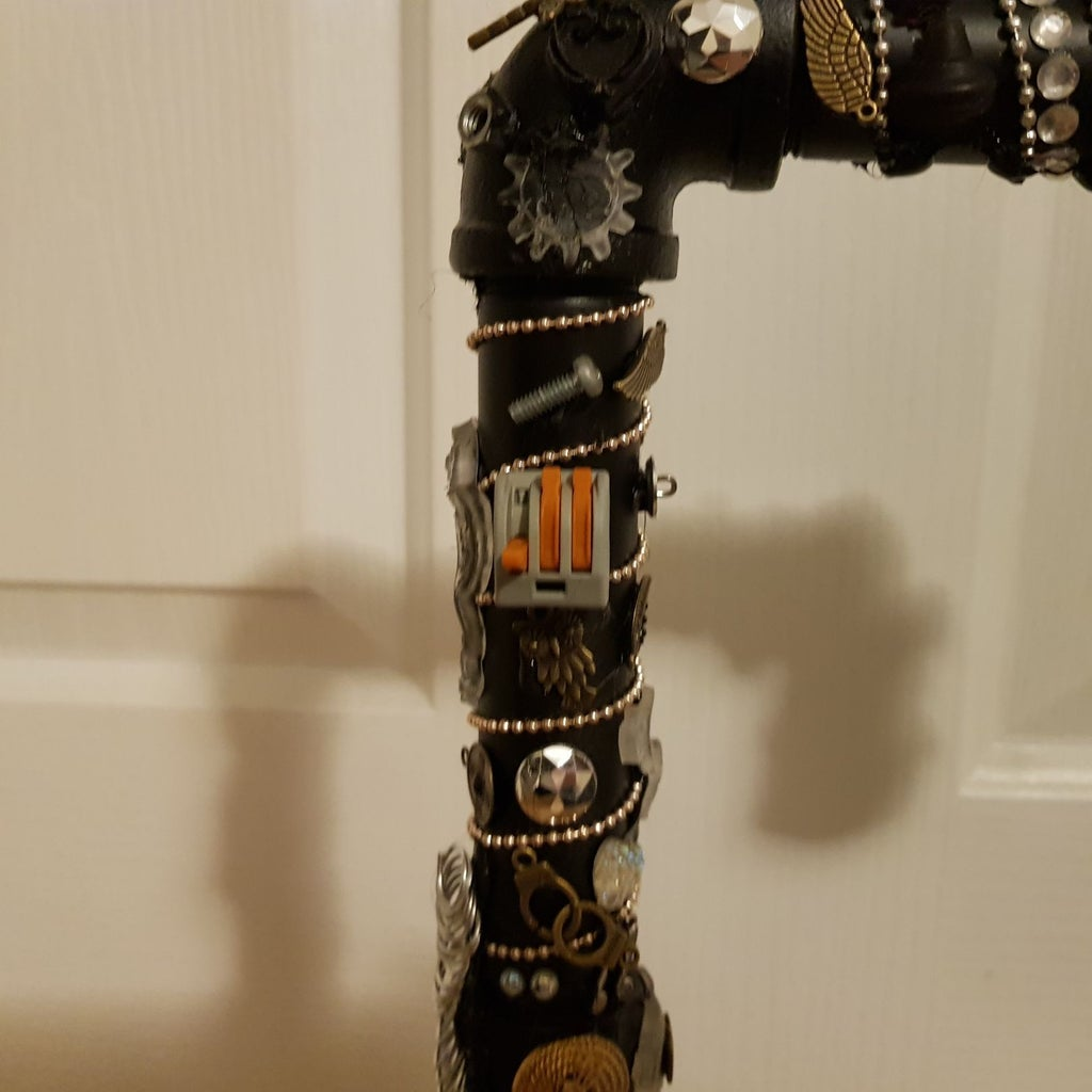 Glue Embellishments Onto the Pipes
