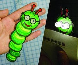 Bookworm Light-up书籍光和书签