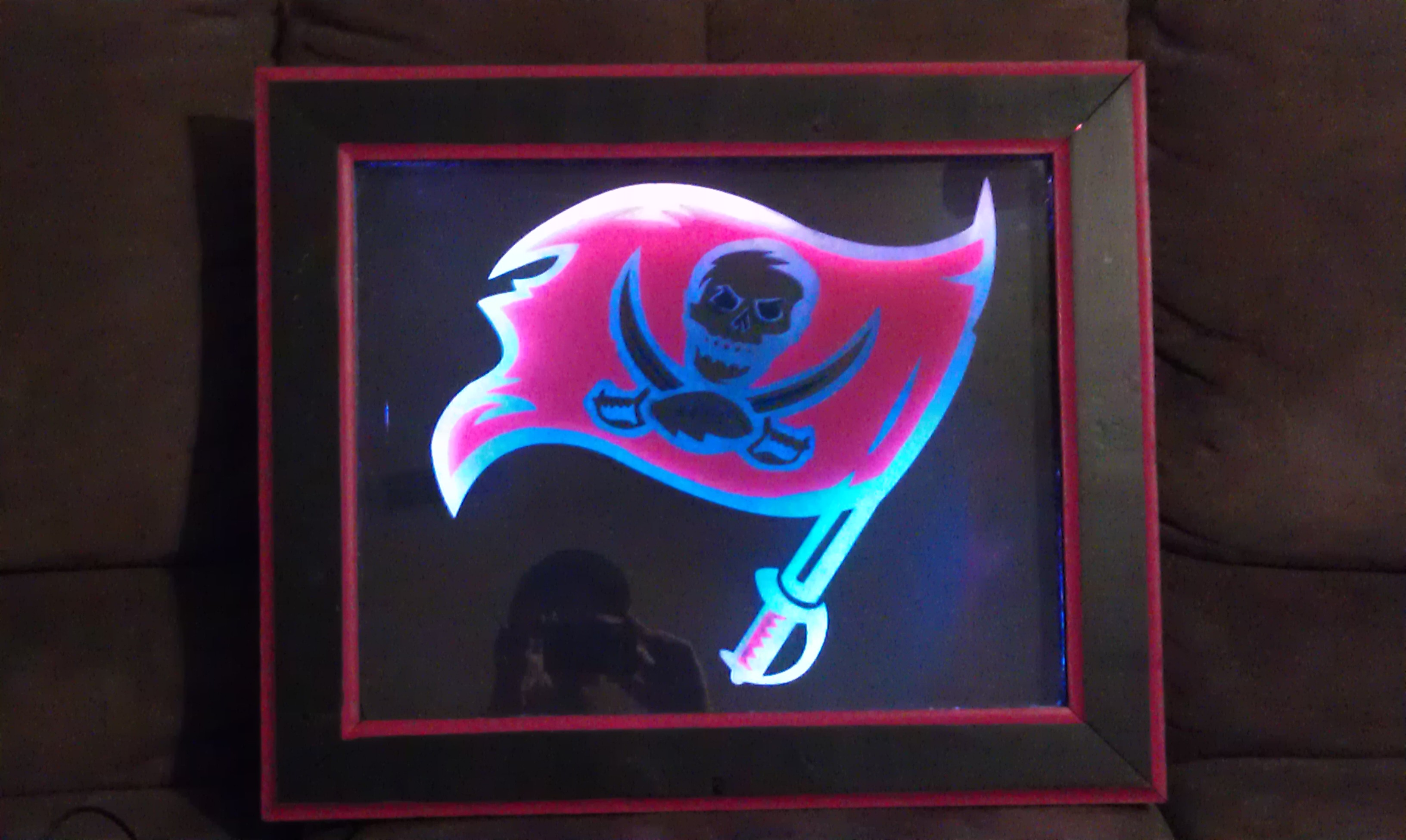Etched Glass with Light Up Frame