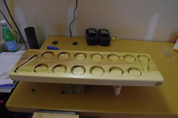 Homemmade Mancala Board With Storage