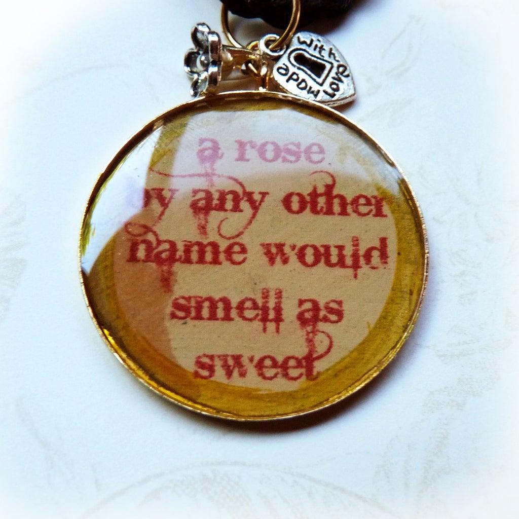 Shakespeare Quote Pendants