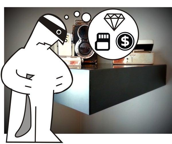 IKEA Shelf Safe With Magnetic Key