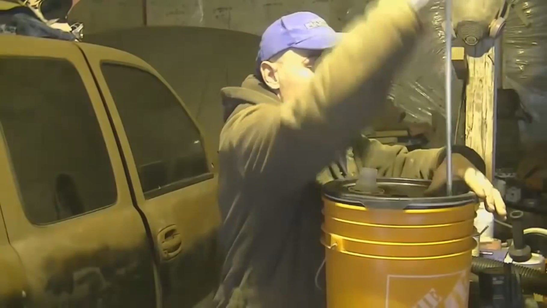 Step #1 - Make Hole in Your Bucket Lid