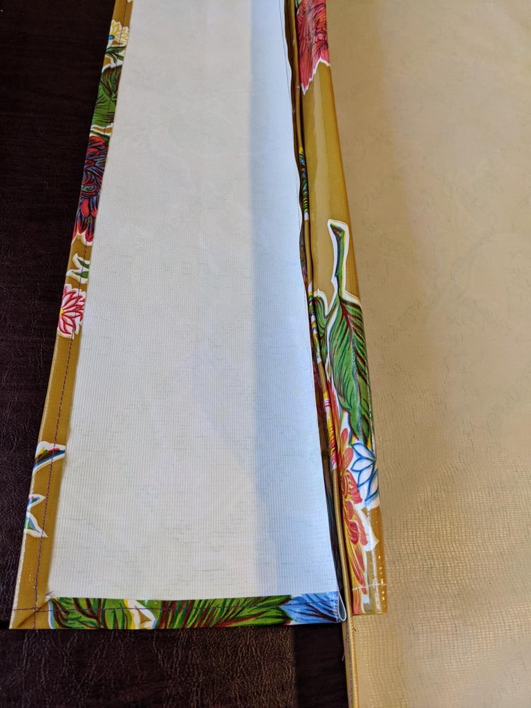 Sew  All the Edges Under on the Three Smaller Pieces.