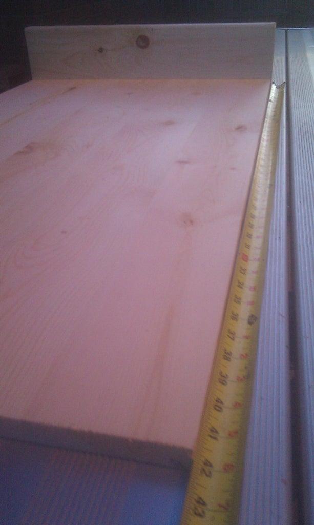 Cutting Tabletop (E) & Laptop Shelf (F)